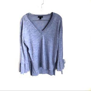 J. CREW Merino Wool Drawstring Sleeve Sweater